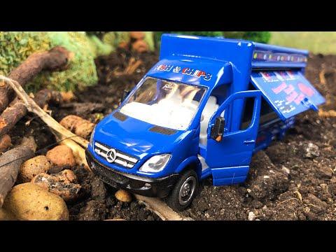 Мультики про машинки | Фургон Магазин на колесах едет за рыбой. #2