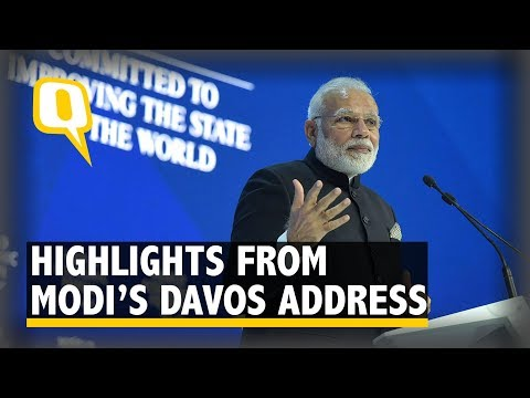 Highlights From Narendra Modi's Plenary Address at World Economic Forum in Davos | The Quint