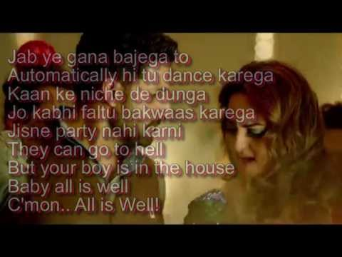 Char Shanivaar Lyrics – All Is Well
