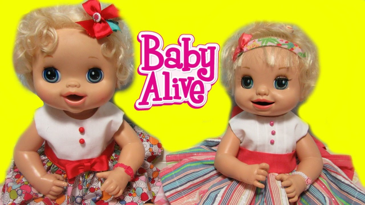 Baby Alive Twins And My Baby Alive Get New Dresses Face