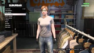 Grand Theft Auto Online Half T-Shirt Glitch For Female Character Only (Patched)