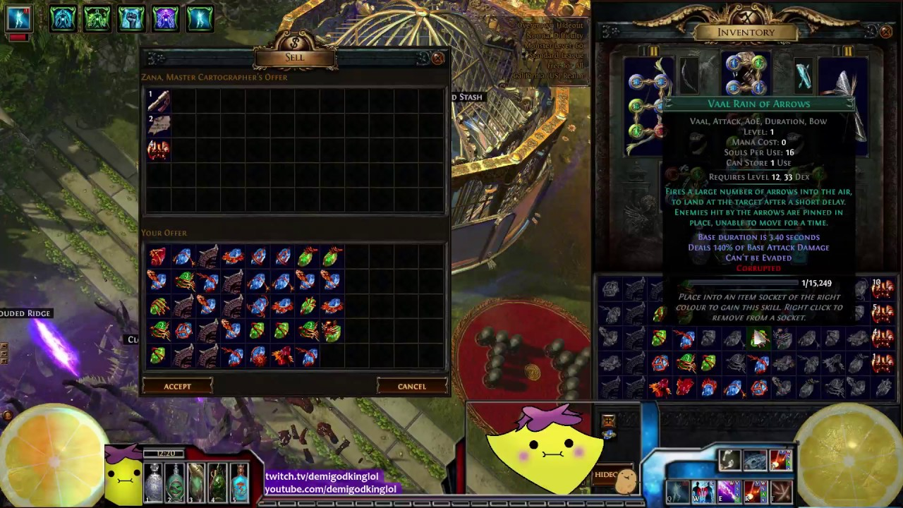 how to get vaal gems