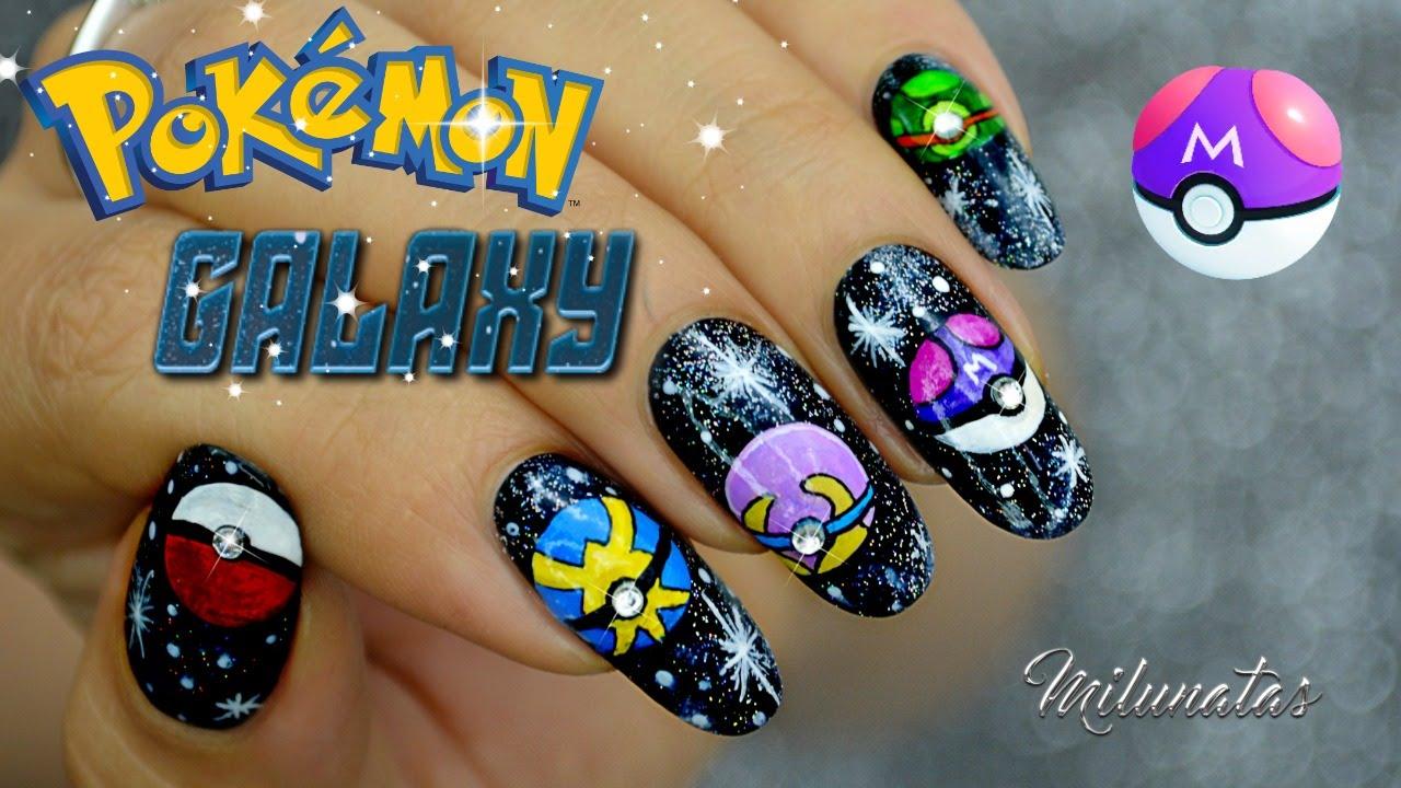 Decoración De Uñas Pokémon Galaxia Nailart Galaxy Pokémon