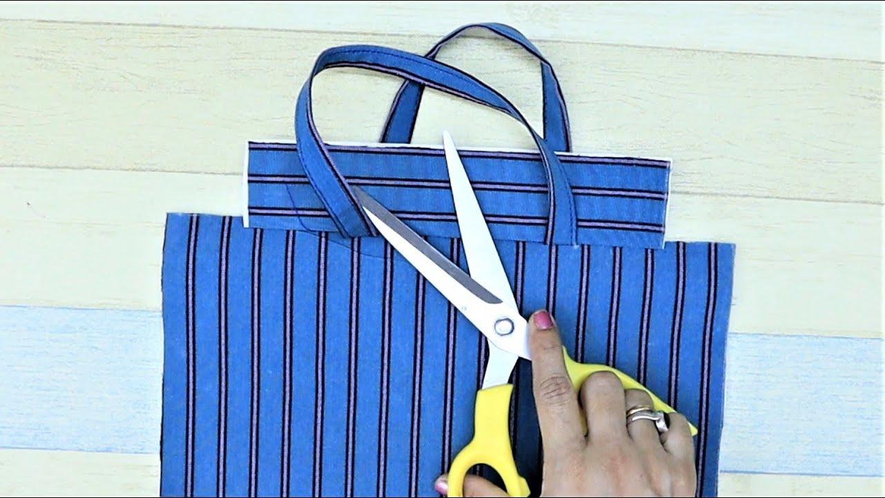 How To Make Easy Multipurpose Bag | Hand Bag | Old Jeans Reuse | Old Cloth Reuse
