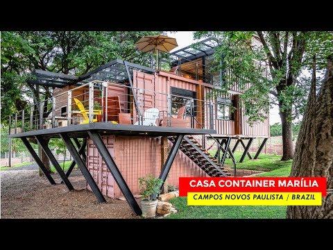 Casa Suspensa Container House Marília- Campos Novos, Brazil