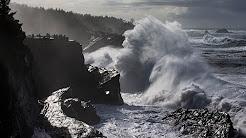 Storm on the Oregon coast