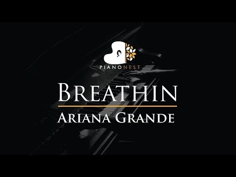 Ariana Grande - Breathin - Piano Karaoke  Sing Along Cover with