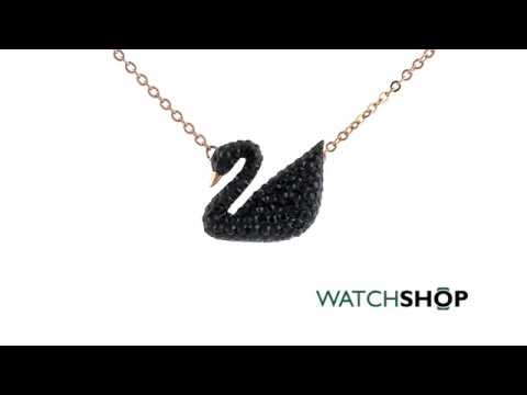 Ladies Swarovski Gold Plated Iconic Swan (5204134) - YouTube a1920d0d17b