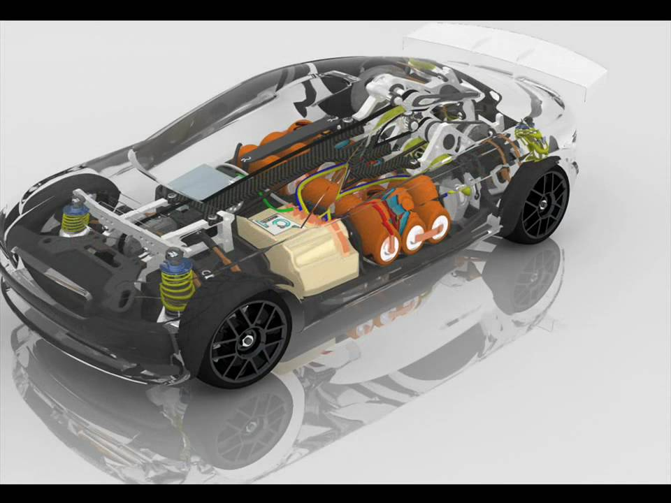Autodesk Inventor - 2010 - Race Car - YouTube