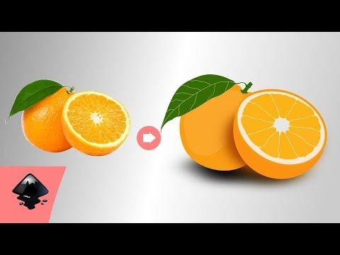 Inkscape Tutorials: Vector Orange Fruit