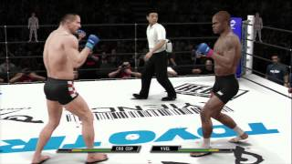 "UFC Undisputed 3 - Pride Gameplay ""Yukes should make a kickboxing game"""