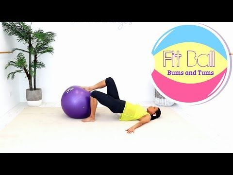 Exercise Ball Stability Ball Workout - BARLATES BODY BLITZ Fit Ball Bums and Tums