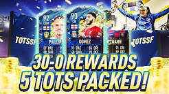 MY SENSATIONAL 30-0 REWARDS!! 5 TOTS & A 90+ INFORM!!! Top 100 FUT Champions FIFA 20 PACK OPENING!