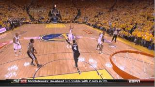 Golden state warriors have two 3 pointers rim out at the end of spurs-warriors game 6
