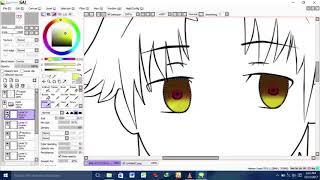 speed drawing ayanokouji - classroom of the elite (chibi version) [paintool.sai]