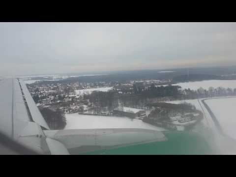 Antalya - Dresden Landung in Dresden Flugzeug Airbus A 319