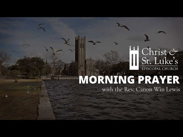 Morning Prayer for Wednesday, March 31: Wednesday in Holy Week
