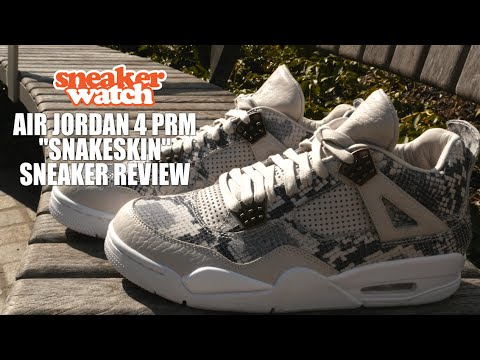 9c8e856387eb26 SneakerWatch Details the Air Jordan 4 PRM  Snakeskin  Early - YouTube