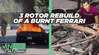 Here's how I'm rebuilding Hoovie's burnt Ferrari