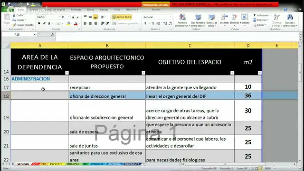 Programa arquitectonico de una dependencia de gobierno for Programa arquitectonico