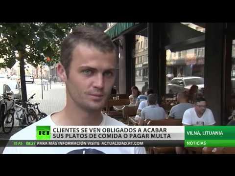Clientes en Lituania se ven obligados a acabar sus platos de comida o pagar una multa