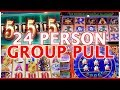 👯👬 24 Person GROUP SLOT PULL💰🎊 ✦ Cosmo Las Vegas ✦ Slot Machine Pokies w Brian Christopher