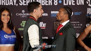 DANNY GARCIA & SHAWN PORTER SHARE INTENSE FACE OFF DURING FINAL PRESS CONFERENCE