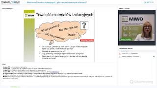 Webinar z ekspertem MIWO: materiały termoizolacyjne