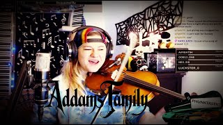 THE ADDAMS FAMILY Theme Song ON THE VIOLIN - Phunk Phiddler