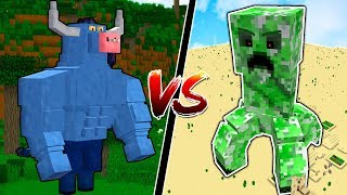 MUTANT CREATURES vs MYTHICAL MINECRAFT BOSSES!!