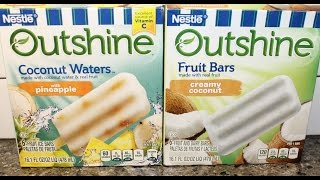 Nestle Outshine Coconut Waters And Creamy Coconut Fruit Bars Review