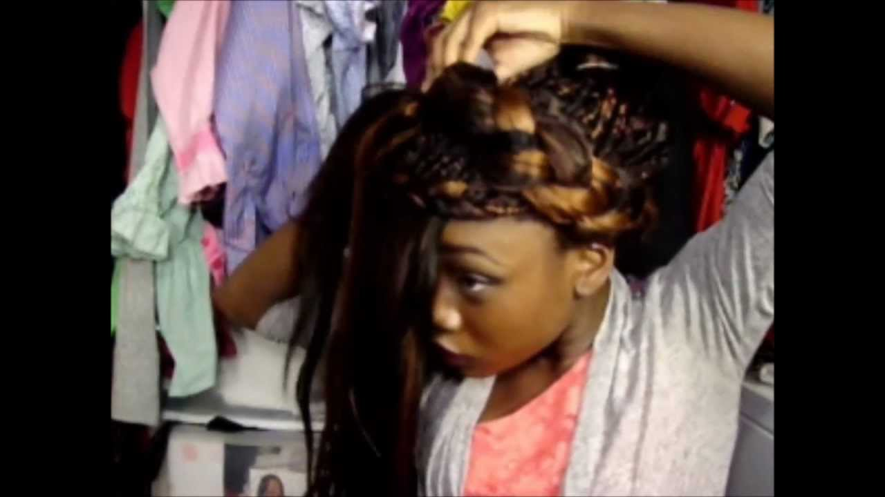 Single Braids Updo Grecian Inspired Youtube