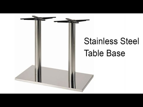 verona stainless steel table base snazzy table top support - Stainless Steel Table Top