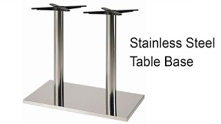 Verona Stainless Steel Table Base Snazzy Table Top Support