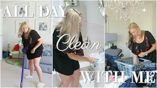 ALL DAY CLEAN WITH ME 2018 | CLEANING ROUTINE SAHM | CLEANING MOTIVATION | MRS SMITH & CO. AD