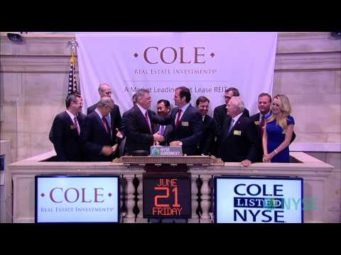 Cole Real Estate Investments, Inc. Celebrates Listing on the NYSE