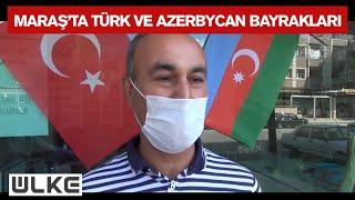 Kahramanmaraşta Türk ve Azerbaycan Bayrakları Dağıtıldı