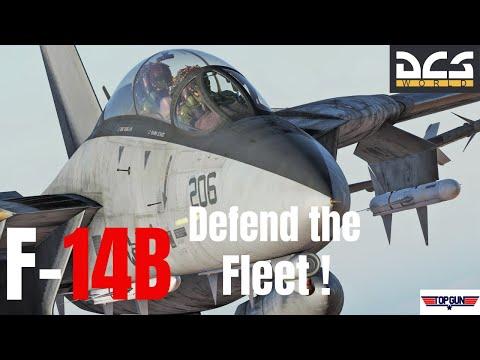 DCS World : F-14B Tomcat - Defend the Fleet !  