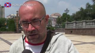 It is safier in Donetsk than in Lithuatian Kaunas, Miquel Puertas (VIDEO)(Today, on 28th July was special interview with Miquel Puertas who is the first and the only teacher now who arrived from another country to work in the DPR's ..., 2016-07-28T15:53:22.000Z)