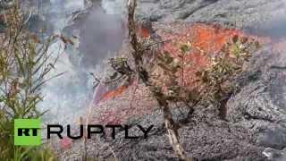 Lava flow motion: Kilauea molten vomit closes in on Pahoa market Hawaii