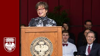 Valerie Jarrett addresses UChicago Class of 2018
