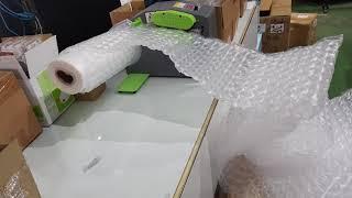 ????淘趣購????氣墊機(可調轉速風速)搭配葫蘆泡氣膜生產製造實況錄影????包裝材料機 緩衝氣墊機 氣枕卷充氣機 葫蘆膜充氣機 包材20190218 144417