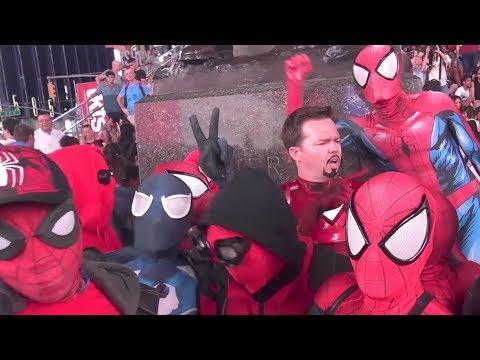 Spider-Man: SPIDER-VERSE Invades New York City!!! Flash Mob Prank