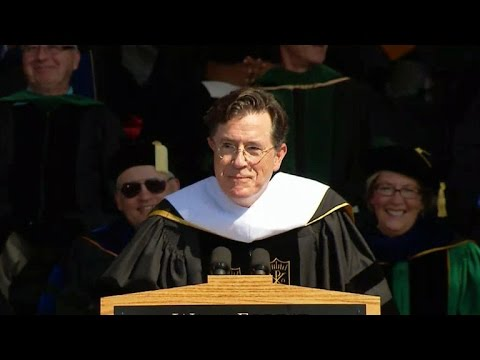 Stephen Colbert Gives A Funny Farewell...