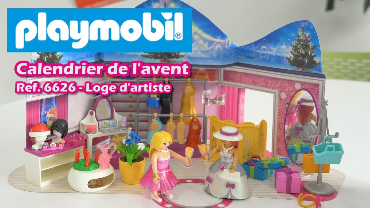 playmobil loge d 39 artiste 6626 calendrier de l 39 avent youtube. Black Bedroom Furniture Sets. Home Design Ideas