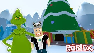 Canavar Grinch'ten Kaçış!! - Panda ile Roblox The Grinch Obby!