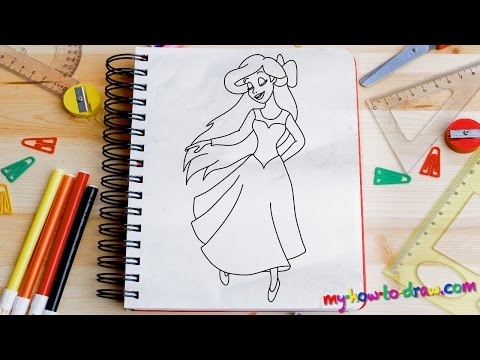 How to draw Ariel 02 Easy step-by-step drawing lessons for kids