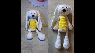 Tuto doudou chien, lapin au crochet spécial gaucher