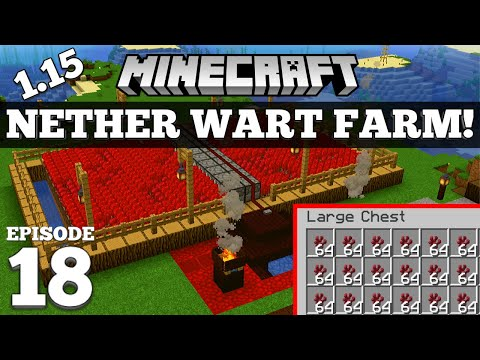 How To Make A Nether Wart Farm In Minecraft! #18