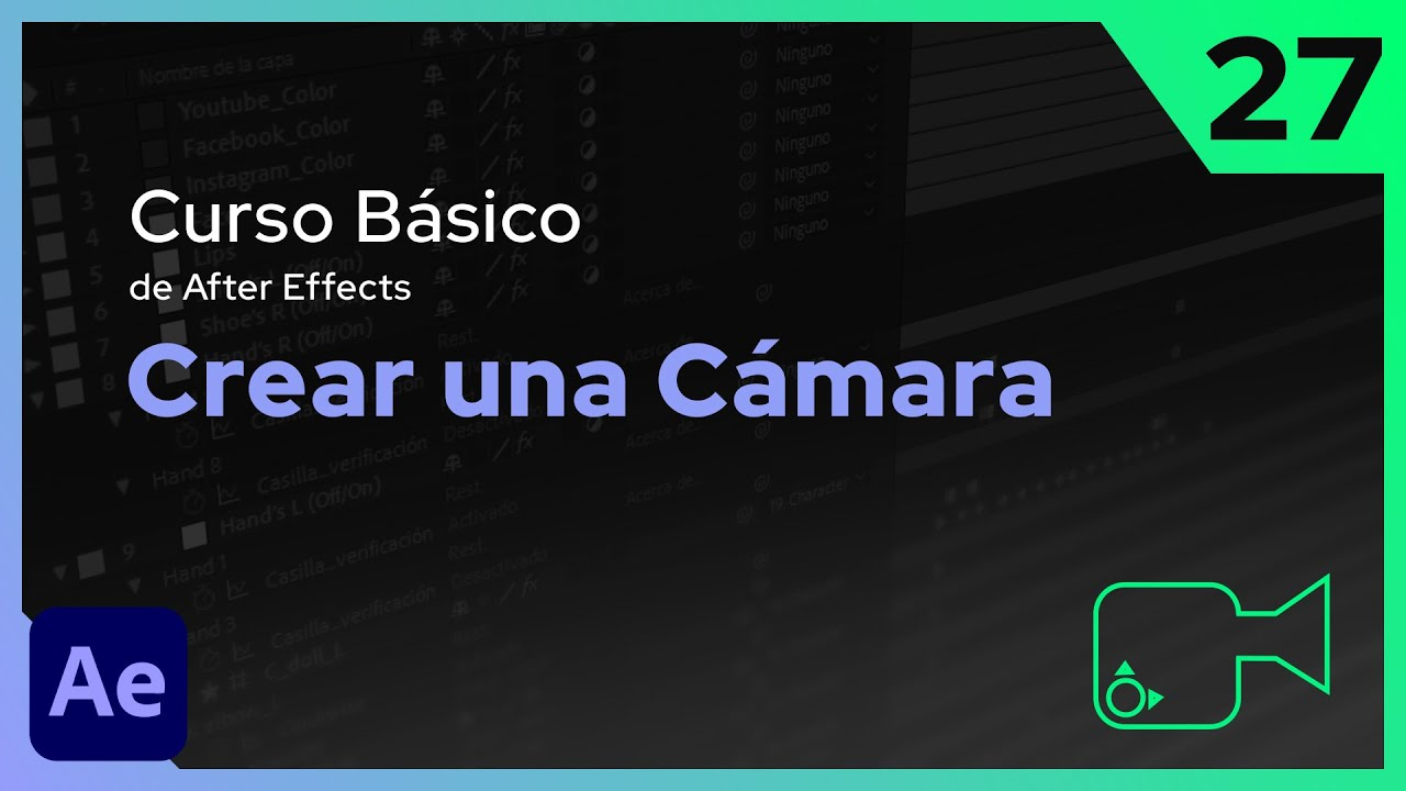 Crear Cámara | After Effects - Tutorial
